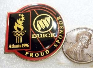 BUICK PROUD SPONSOR ATLANTA 1996 OLYMPICS PIN
