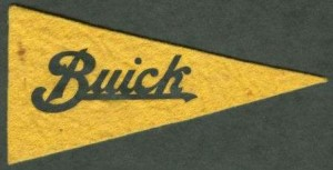 Buick 3x6 inch yellow felt miniature pennant