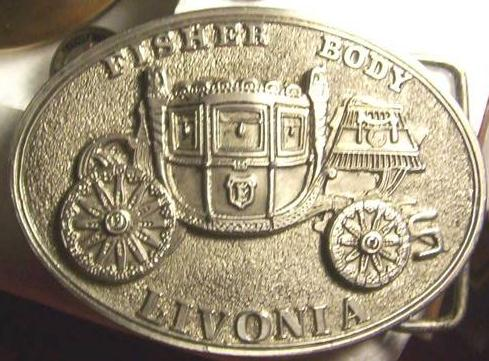 Fisher Body Livonia belt buckle