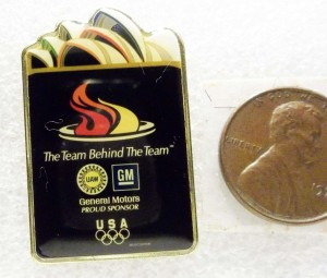 UAW GM USA OLYMPICS THE TEAM BEHIND THE TEAM GENERAL MOTORS PIN