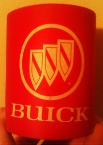 buick tri shield logo can koozie