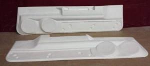 custom door panel lower part for dual speakers