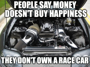 happiness is a race car