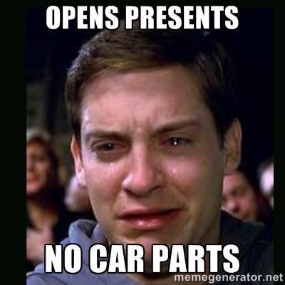 no car parts for christmas