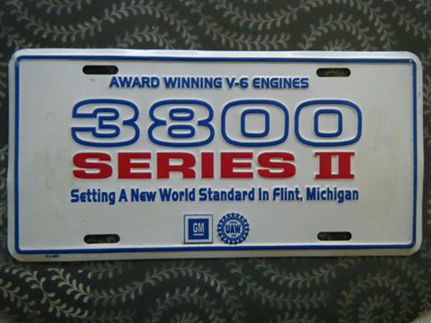 3800 series engines license plate