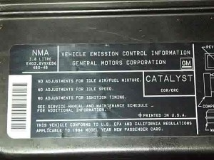 84 emissions label