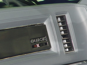 1987 buick gnx dash plate