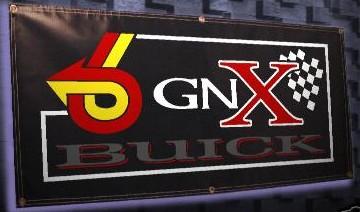 a gnx vinyl banner