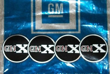 Buick GNX Decals