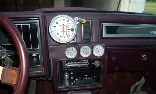 above radio gauge pod