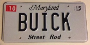 buick license plate