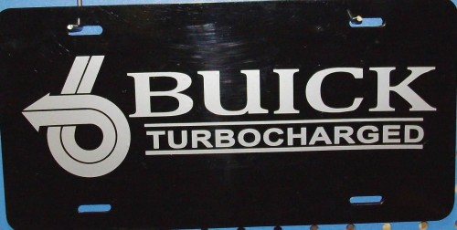 buick turbocharged license plate