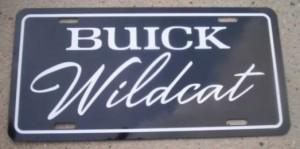 buick wildcat plate