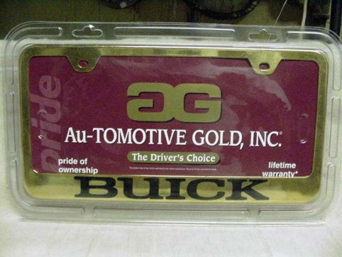 gold buick license plate frame