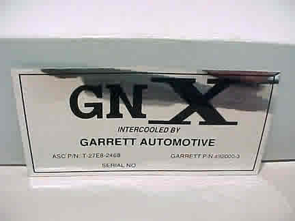 orig garrett intercooler decal