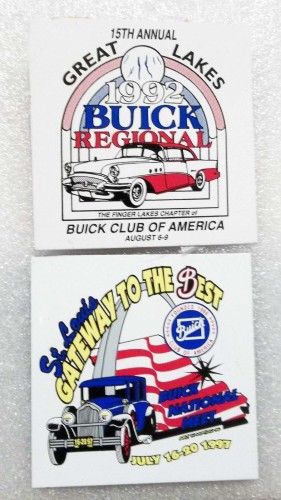 2 BUICK CLUB OF AMERICA PLAQUES