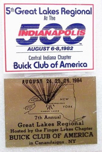 BUICK CLUB OF AMERICA 5th AND 7th GREAT LAKES REGIONAL PLAQUES