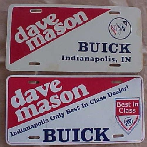 Dave Mason Buick license plate set