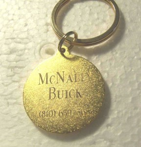 MCNALLY BUICK DEALERSHIP KEY CHAIN 2