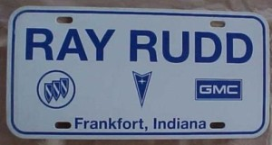Ray Rudd Dealership plate