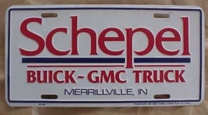 Schepel Buick license plate