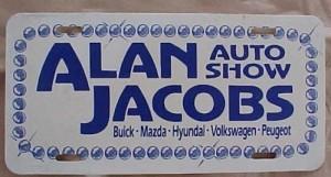 alan jacobs auto show plate
