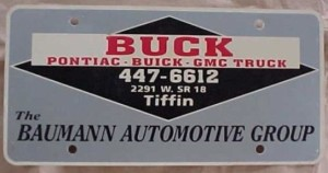 baumann automotive group license plate
