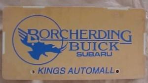 borcherding buick plate