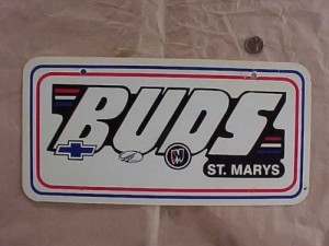 buds dealership license plate