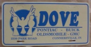 dove buick plate