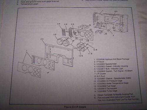 gauge and dash setup buick GNX