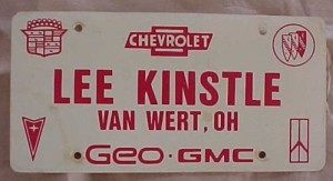 lee kinstle dealership license plate