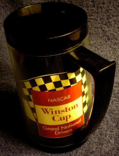 nascar winston cup thermo mug