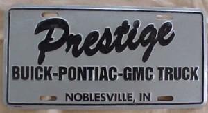 prestige buick plate