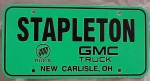 stapleton buick dealership license plate