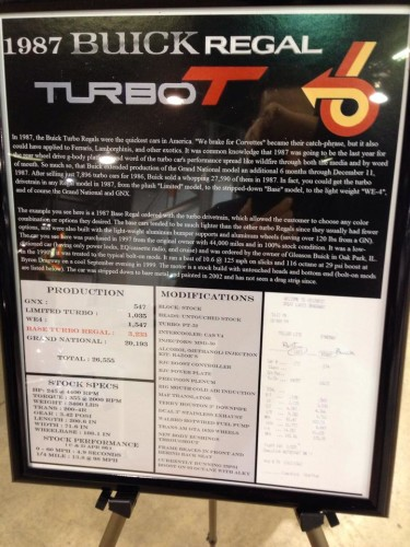 turbo t car show sign