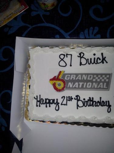 87 buick cake