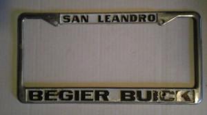 Begier Buick License Plate Frame