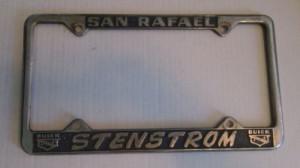San Rafael Stenstrom Buick Dealer Plate Frame
