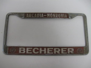 becherer buick arcadia dealership tag frame