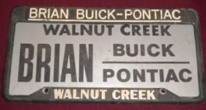 brian buick dealer plate frame