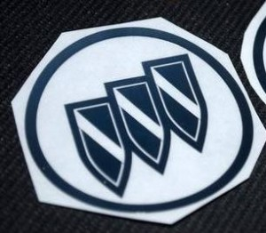 buick logo hub cap decal