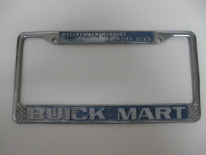 buick mart license plate frame