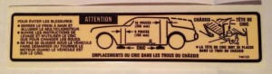 canadian buick grand national jack instructions in french