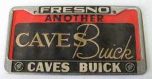 caves buick license plate