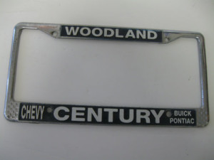 century buick woodland plate frame