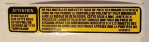 french canadian spare tire sticker