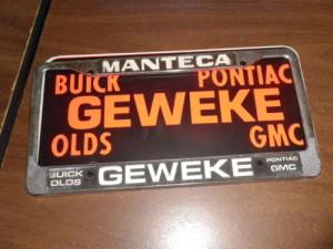 geweke buick license plate frame