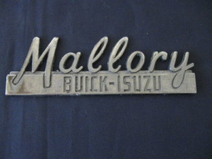 mallory buick dealer emblem