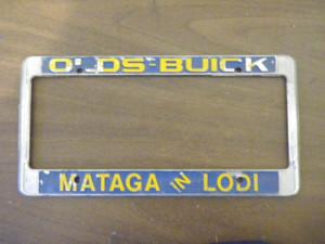 mataga buick license plate frame